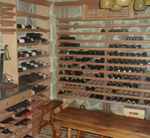 Custom Made Shelving and Wine Racks in Union County.